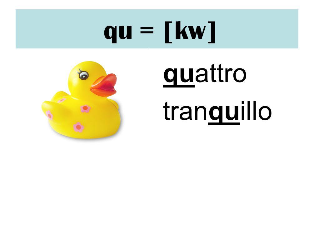 qu = [kw] quattro tranquillo